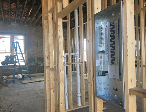 Loft Apartments Get Plumbing and Electric